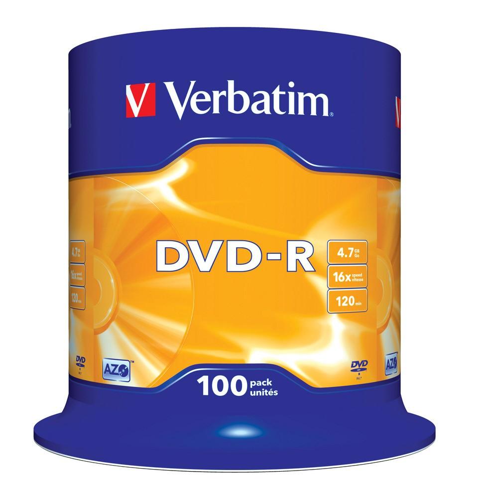 Discs Cd Dvd R Sony Bulk Pack 50 Verbatim 16x 47gb 100 Cb 43549 3460