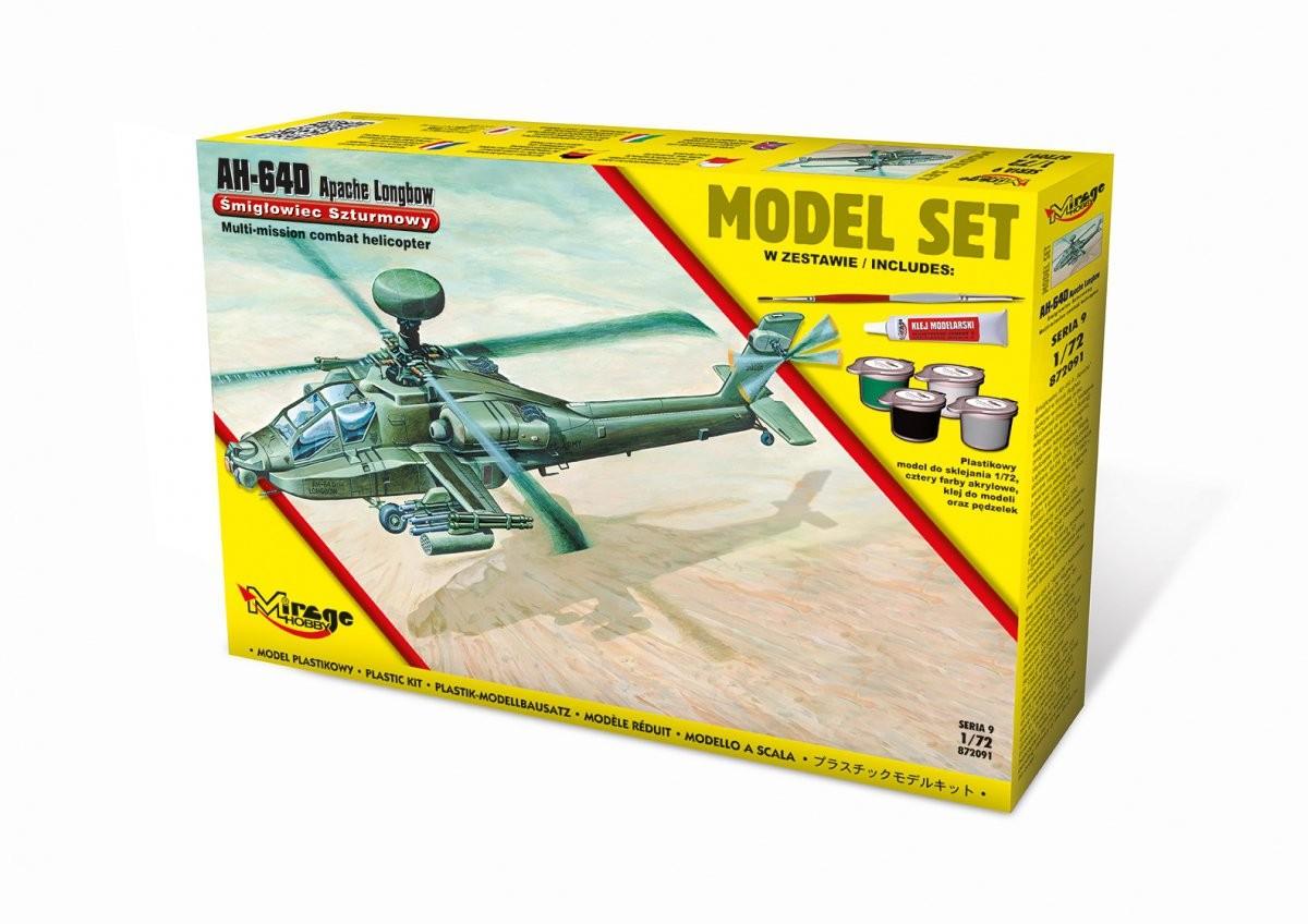 809ce0c76e2 Mirage AH-64D Apache Longbow model set [Amerykański Śmigłowiec Szturmowy]  872091 € 24.60