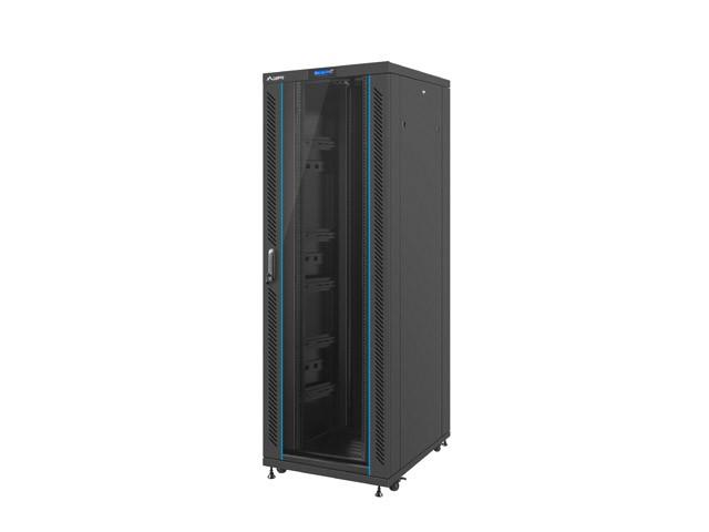 Lanberg Szafa Rack Standing 19 Inch 37u 800x1000mm Black Glass Door